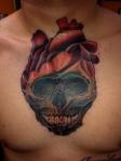 skull and heart tattoo