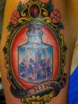 victorian frame tattoo